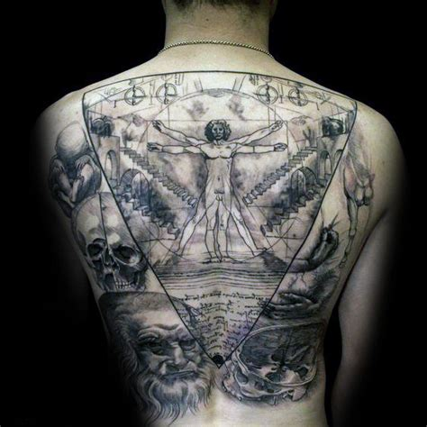 50 vitruvian man tattoo designs for men da vinci ink ideas