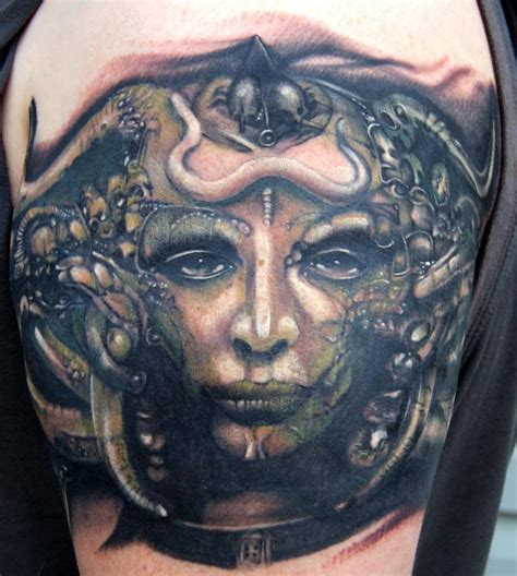 hr giger tattoo h r giger artwork cool tattoos