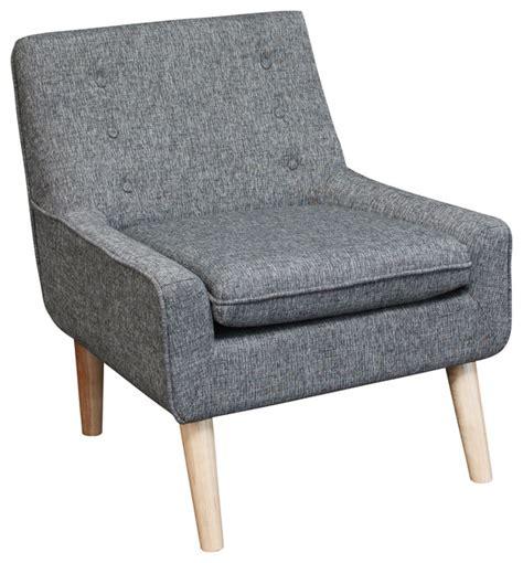 Brocktson Retro Accent Chair, Charcoal Grey Fabric