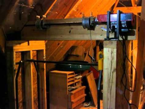 Garage Attic Lift Elevator by Home Made Garage Attic Lift Hoist Elevator Dumb Waiter