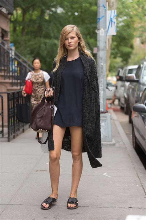 Bonia Leather 32 annaewers legging it offduty in nyc model