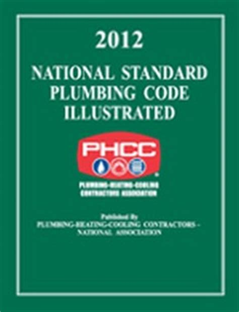 2012 National Standard Plumbing Code phcc plumbing heating cooling contractors association construction book express