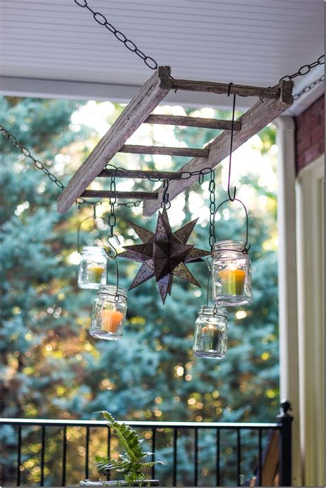 create a chandelier 10 decorative uses for an ladder