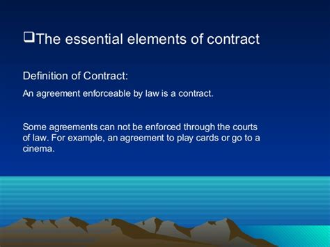 The Essential Elements Of Contracts Badhon