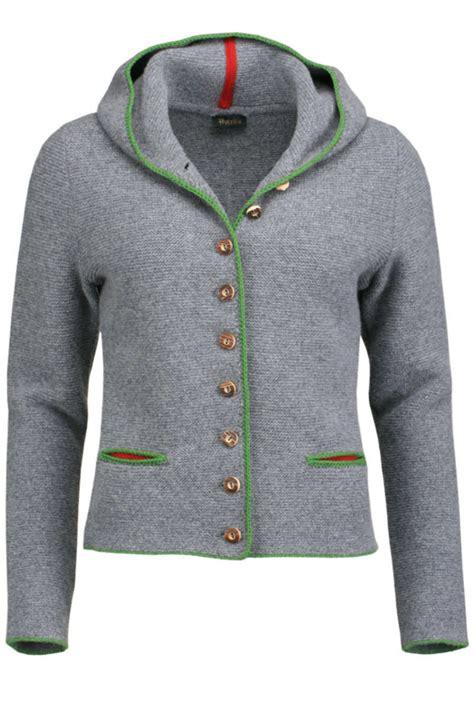 Trachten Strickjacke Mit Kapuze Damen trachten strickjacke mit kapuze grau gr 252 n fiona jacken