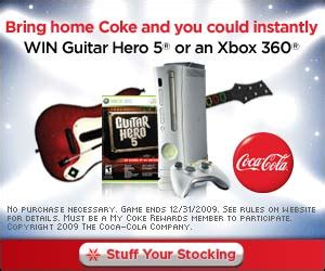 Coke Instant Win - coca cola my coke rewards and guitar hero 5 giveaway mom