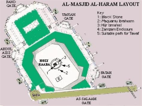 layout plan of masjid al haram hajj