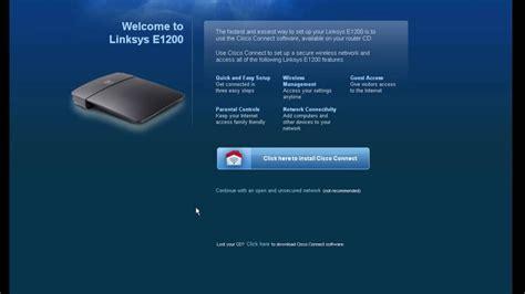 Router Cisco E1200 how to configure cisco linksys e1200 router