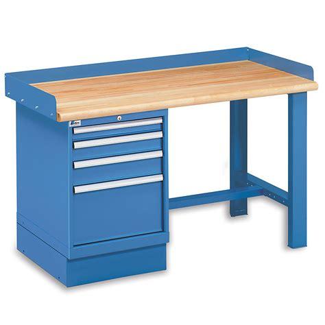 lista work bench lista pedestal workbench 4 drawer pedestal 72x30 top