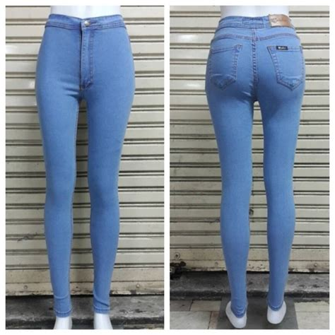 light blue skinny jeans womens new high waist skinny jeans women blue white light
