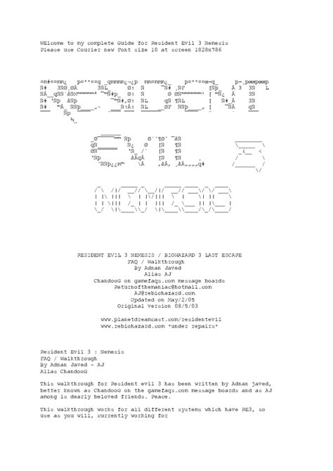 Resident Evil 3 Nemesis Cheats Gamecube ~ RPG Games PC Info