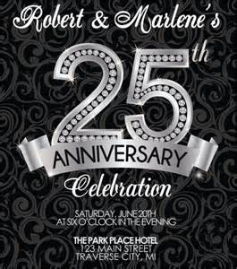 25th anniversary invitations templates anniversary invitation template 12 premium and