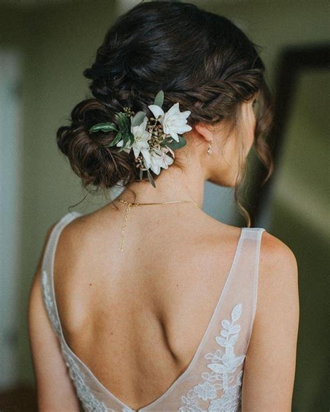 bridal hairstyles simple and elegant 18 trending wedding hairstyles with flowers page 2 of 3