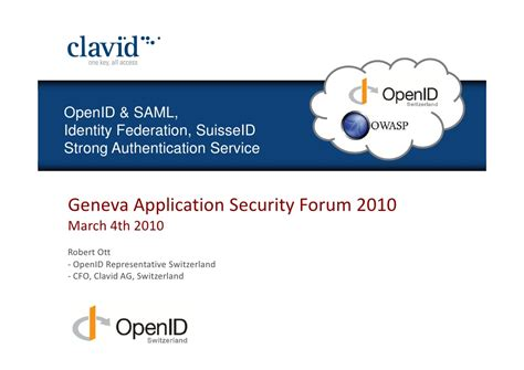 geneva application security forum vers une