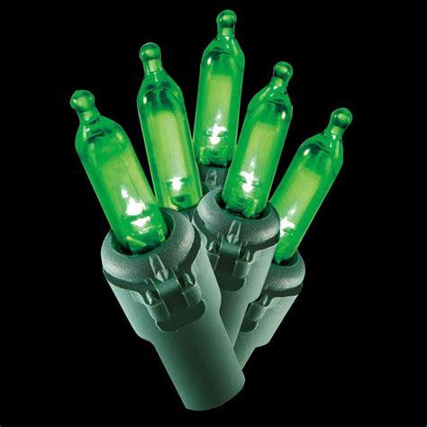 mini light sets home accents 100 light led green mini light set ty