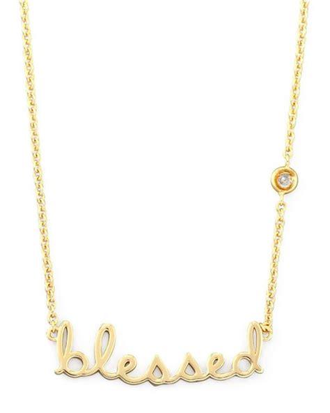 by sydney evan blessed pendant bezel necklace