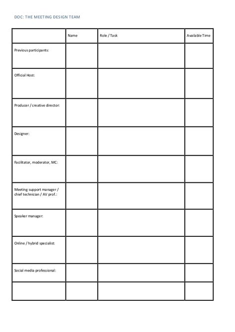 meeting checklist template images toolbox meeting
