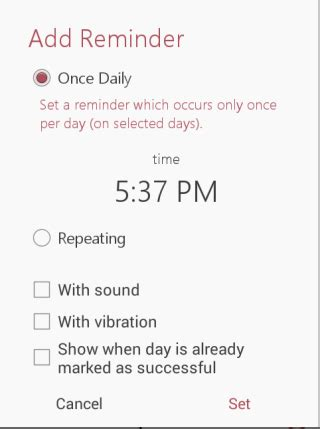 add reminder in android android habit tracker app to track habits habitbull