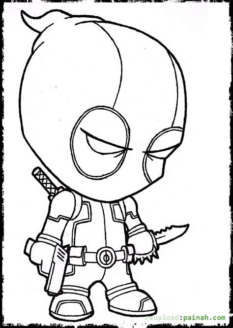 free coloring pages of deadpool chibi
