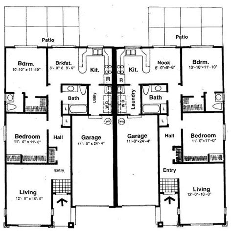 symmetrical house plans two bedroom house plans for small land two bedroom house