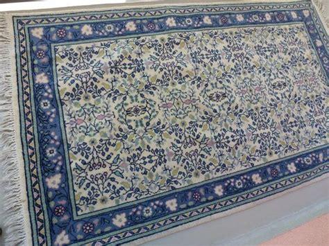 teppich blau gemustert orientalischer teppich blau gemustert 158 x 94 cm in