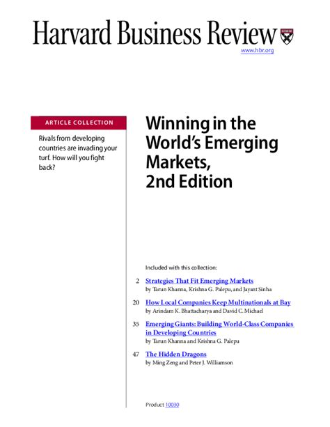 strategies that fit emerging markets strategies that fit emerging markets bina zingo