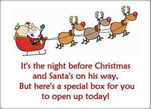 2 x christmas eve box labels stickers xmas gift present
