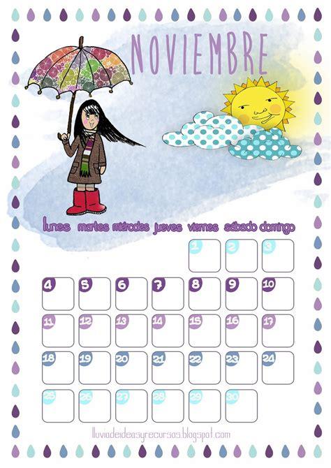 noviembre 2013 nino infantil lluvia de ideas descargables calendario noviembre 2013