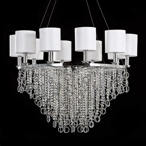 moderne kronleuchter chrom modern polished chrome swarovski chandelier