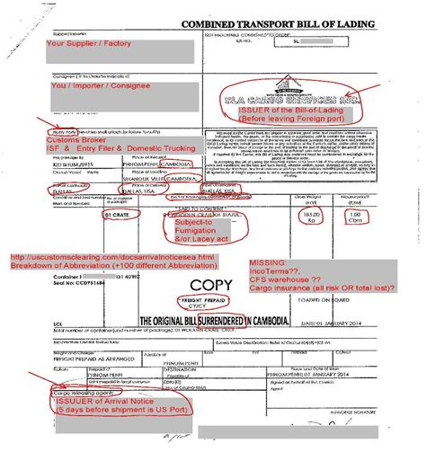 printable sample bill of lading pdf form real estate forms word