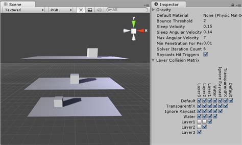 unity ignore layout unity manual layer based collision detection
