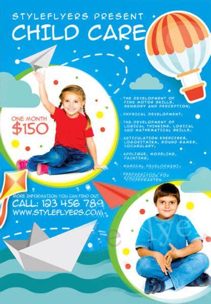 free child care psd flyer template flyershitter com