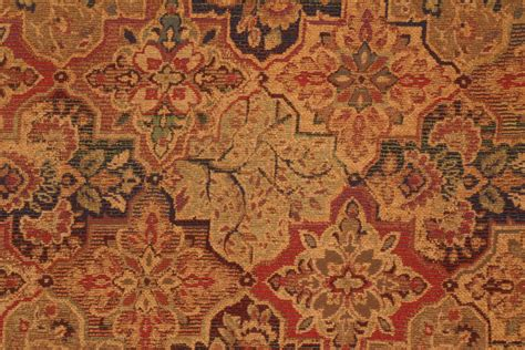 Upholstery Fabric by M7237 5654 Chenille Tapestry Upholstery Fabric In Mosaic