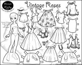 paper doll coloring pages marisole monday vintage roses paper thin personas