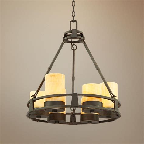 faux candle chandelier lighting sunset onyx stone 6 light faux candle chandelier candle