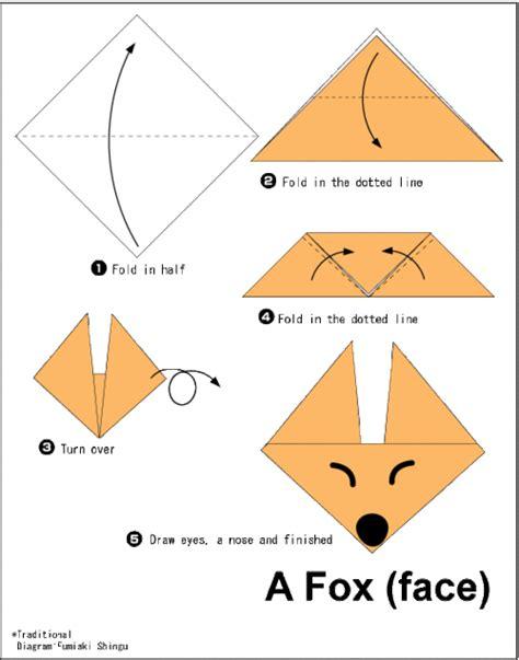 origami fox diagram easy origami fox tutorial origami handmade