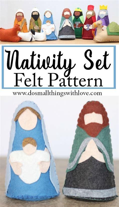 pattern felt nativity felt nativity set pattern and giveaway felt patterns