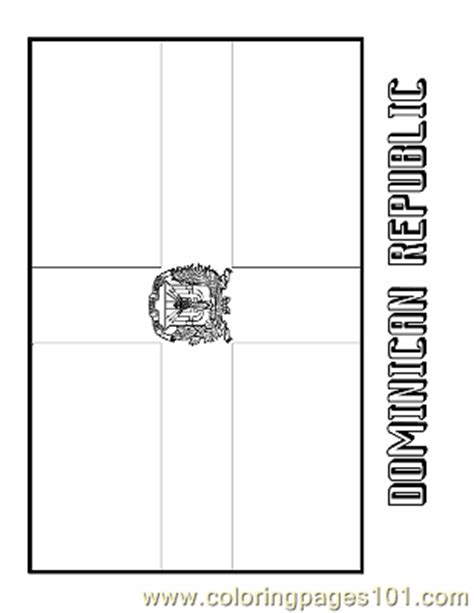 coloring pages dominican republic education gt flags