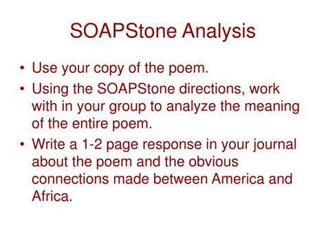 Soapstone Analysis - ppt table of contents introduction 3 essential