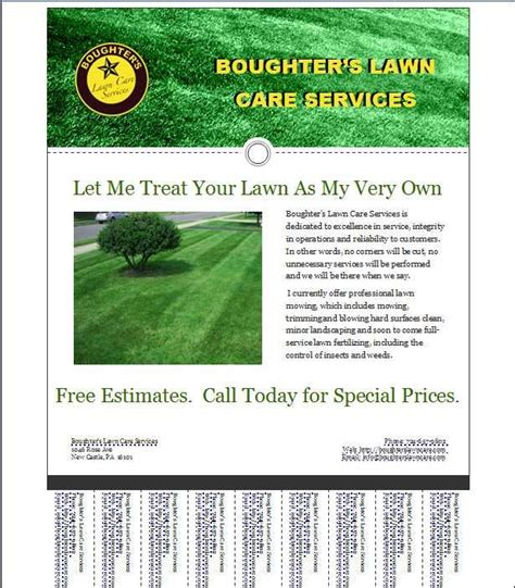 lawn care business flyer templates template regarding free lawn