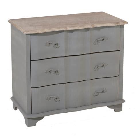 commode 3 tiroir commode romantique en bois gris 3 tiroirs calie