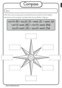 compass worksheet grade compass worksheet for compass and geography