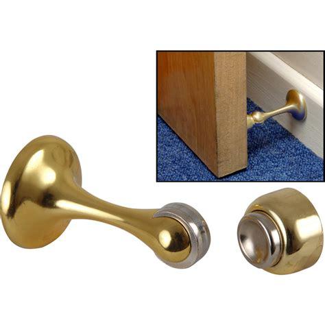 magnetic door holder polished brass toolstation