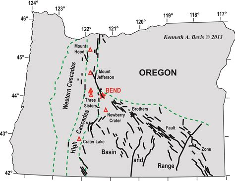map of oregon volcanoes cascade volcanoes in oregon images