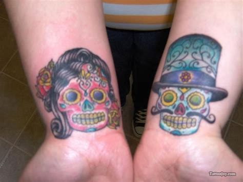 his and hers skull tattoos sugar skulls his hers free for all day of the