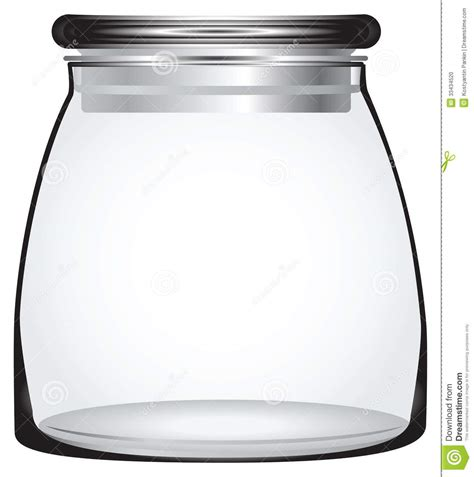 Kitchen Canister Glass Storage Jars Stock Photo Image 33434520
