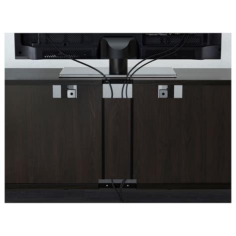 besta zwart best 197 tv meubel met lades zwartbruin selsviken hoogglans