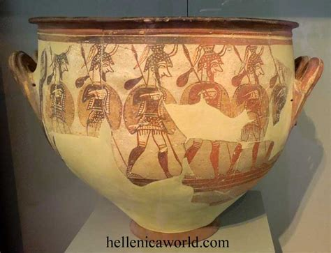 Mycenaean Warrior Vase by National Archaeological Museum Athens