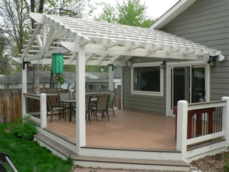 small deck with pergola craftsman outdoor living