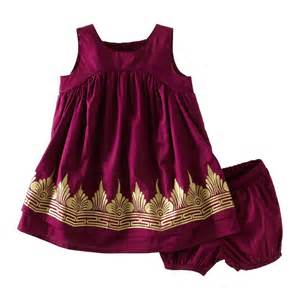 Tea collection baby girls infant golden temple dress baby clothes